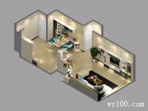 简约式收纳客餐厅  48�O省预算刚刚好_维意定制家具商城