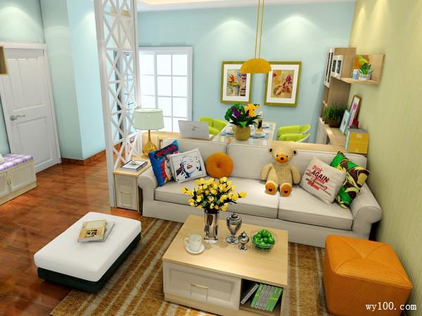 现代客餐厅效果图 30�O打造温馨家庭_维意定制家具商城
