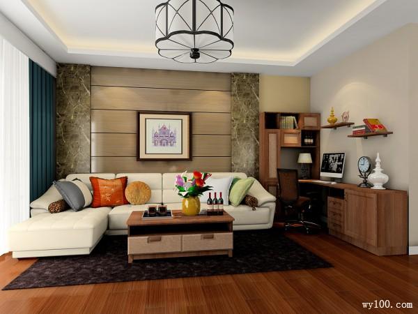 轻古典客餐厅效果图 74�O舒适源自高贵美_维意定制家具商城