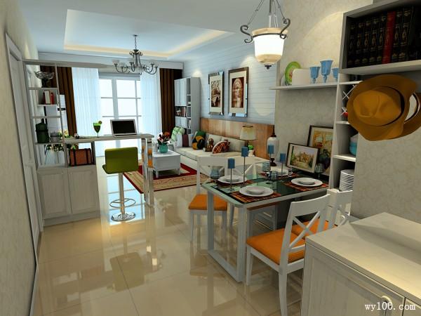简约收纳客餐厅 51�O简单而不繁复整理_维意定制家具商城