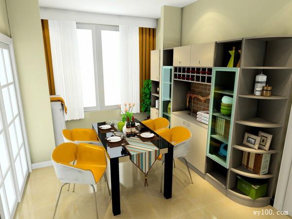 吧台做空间隔断 35�O分隔规整有序客餐厅_维意定制家具商城