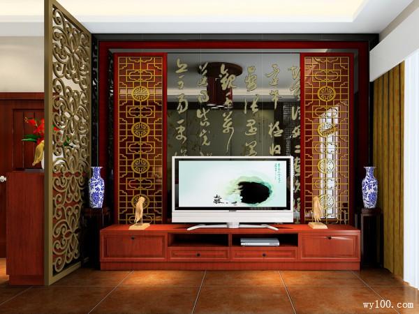 新中式风格客餐厅 43�O东方韵味之家_维意定制家具商城