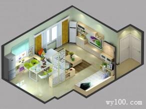 客餐厅隔断效果图 40�O打造惬意客餐厅_维意定制家具商城