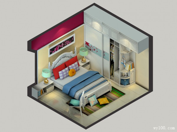 美式典雅卧室 11�O彰显尊贵生活品质_维意定制家具商城