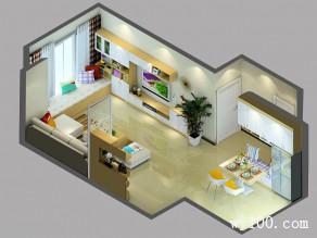 开放式客餐厅效果图 42�O体现品位和意境_维意定制家具商城