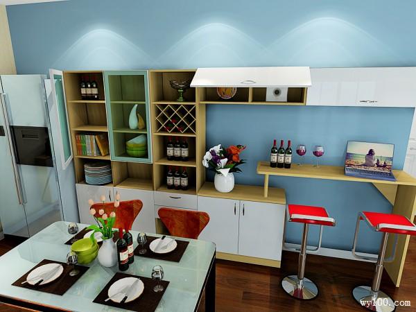 简约现代客餐厅 41�O轻松打造清新自然家_维意定制家具商城