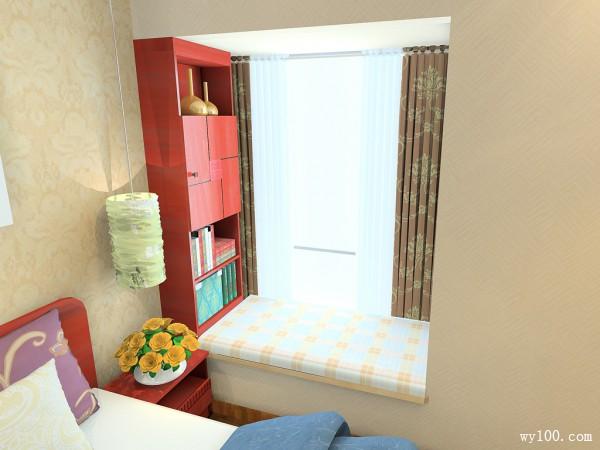 复古飘窗卧室装修效果图
