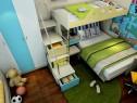 上下床儿童房效果图 10�O柜体合理搭配_维意定制家具商城