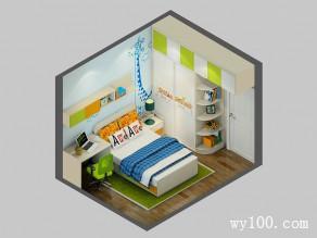 智趣儿童房效果图 9�O飘窗台的利用_维意定制家具商城