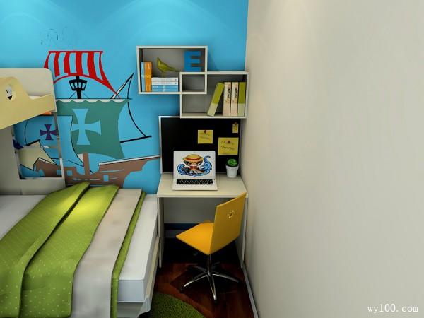 现代书桌儿童房装修效果图