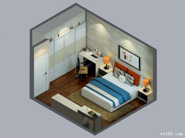 欧式卧室效果图 18�O整体温馨,空间储物强_维意定制家具商城