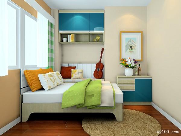 现代卧室效果图 9�O小空间得到了很好的利用_维意定制家具商城