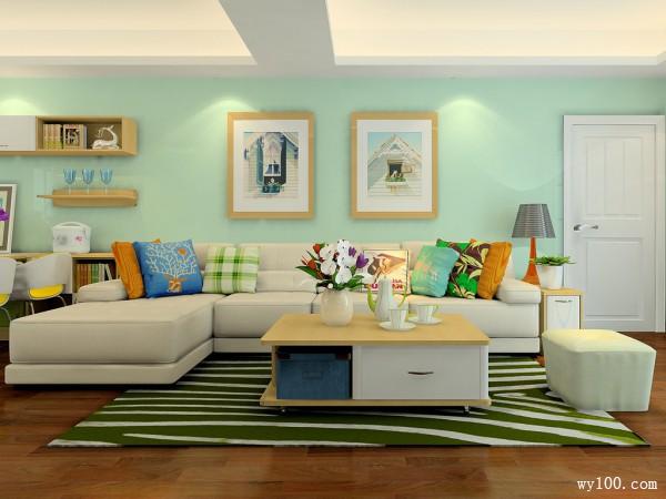 现代客餐厅效果图 26�O整体空间设计温馨_维意定制家具商城
