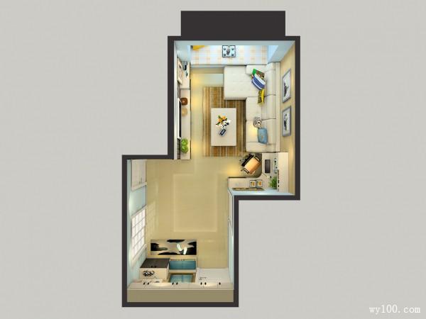 欧式客餐厅效果图 21�O整体空间设计温馨_维意定制家具商城