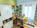 现代简约书房效果图 9�O书柜和书桌的组合_维意定制家具商城
