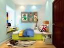 色彩青春活泼儿童房风格效果图_维意定制家具商城