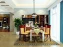 古典韵味客餐厅风格效果图_维意定制家具商城