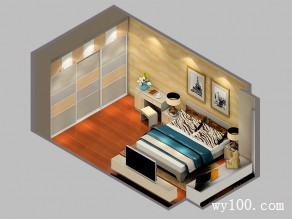 带收纳飘窗矮柜卧房效果图_维意定制家具商城