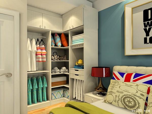 时尚简约卧房空间效果图_维意定制家具商城
