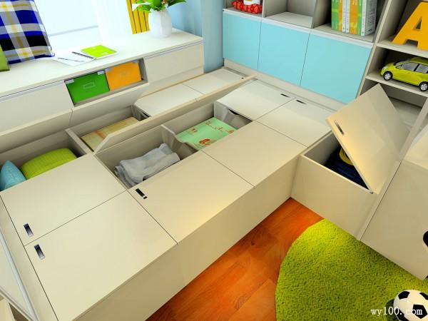 彩色儿童房效果图 15�O宅家陪孩子最靠谱_维意定制家具商城