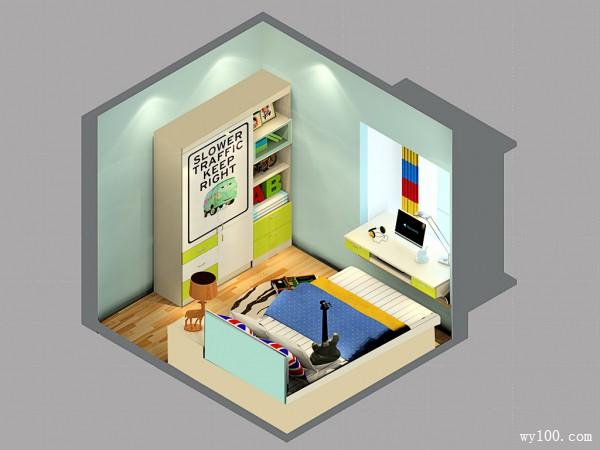 现代多功能室儿童房装修效果图