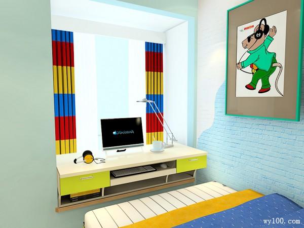 现代飘窗儿童房装修效果图