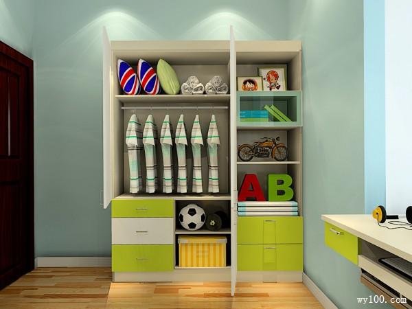 时尚装饰柜儿童房装修效果图