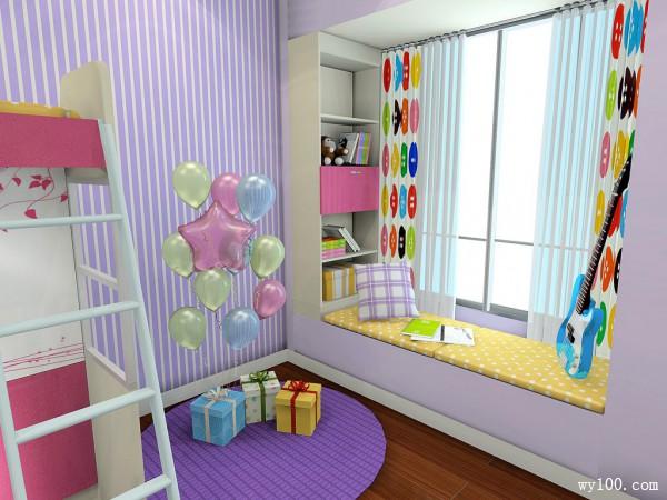 充满童趣儿童房设计效果图_维意定制家具商城