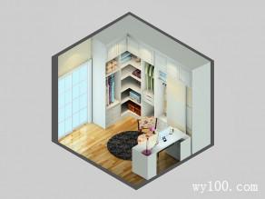 L型入墙衣帽间效果图 8�O具有强大的储物功能_维意定制家具商城