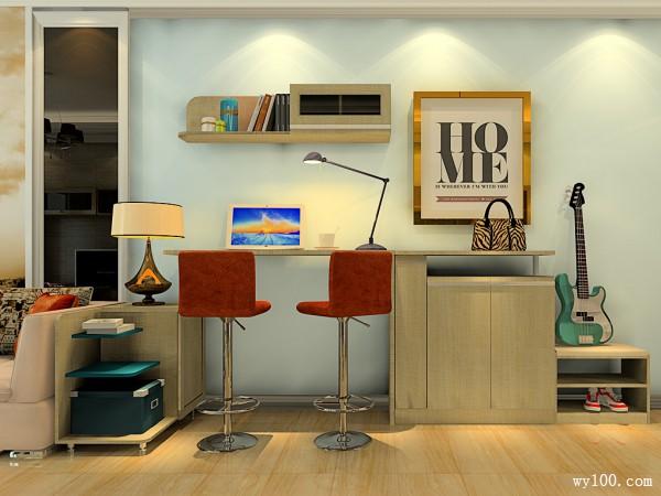 组合电视柜客餐厅效果图 29�O不仅风格时尚简约_维意定制家具商城