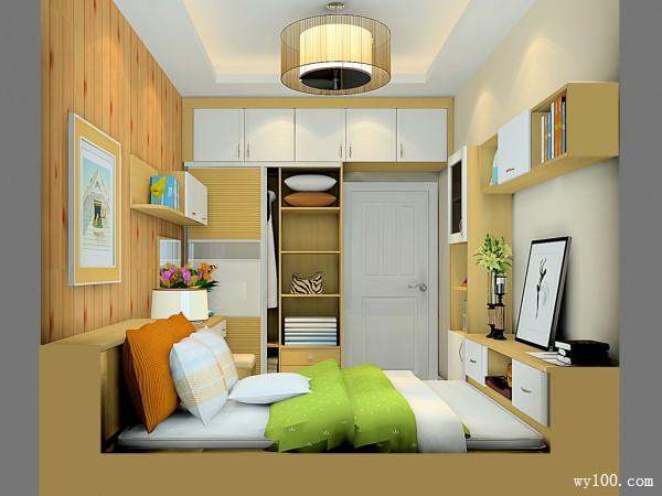卧室榻榻米装修效果图 9�O整体清新简约_维意定制家具商城