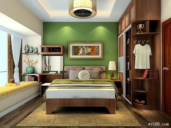 简约飘窗卧室效果图 10�O整体风格稳重奢华_维意定制家具商城