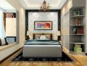 现代简约卧室效果图 12�O搭配圆弧柜_维意定制家具商城