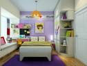 紫色系儿童房效果图 9�O环境色调偏红紫搭配_维意定制家具商城