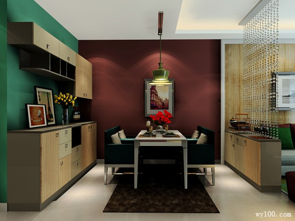 装饰柜隔断客餐厅效果图 28�O让空间更富有魅力_维意定制家具商城