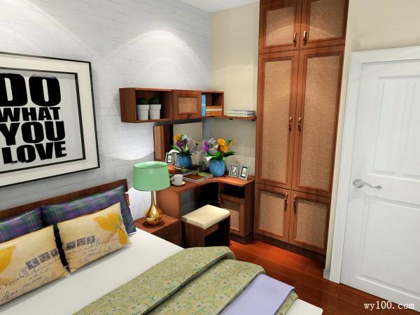 飘窗梳妆台卧室效果图 8�O设计嵌入式衣柜_维意定制家具商城
