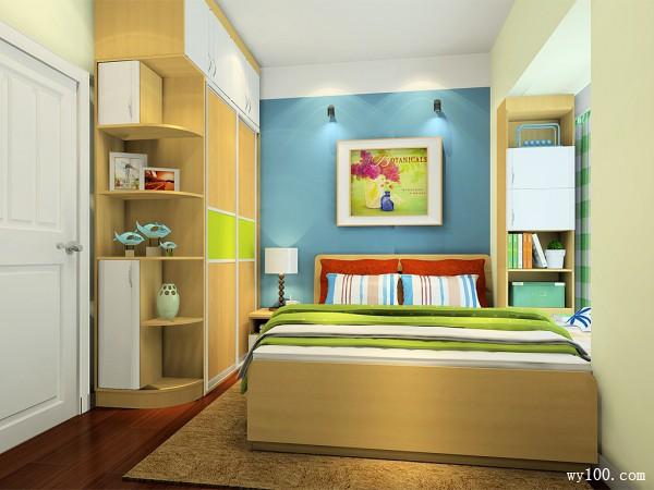 圆弧衣柜飘窗卧室效果图 7�O自然的卧房氛围_维意定制家具商城