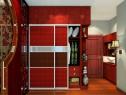 新中式卧室效果图 11�O玫瑰木面板材质独特气息_维意定制家具商城