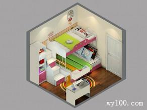 儿童房上下床设计效果图 9�O整体风格充满爱_维意定制家具商城