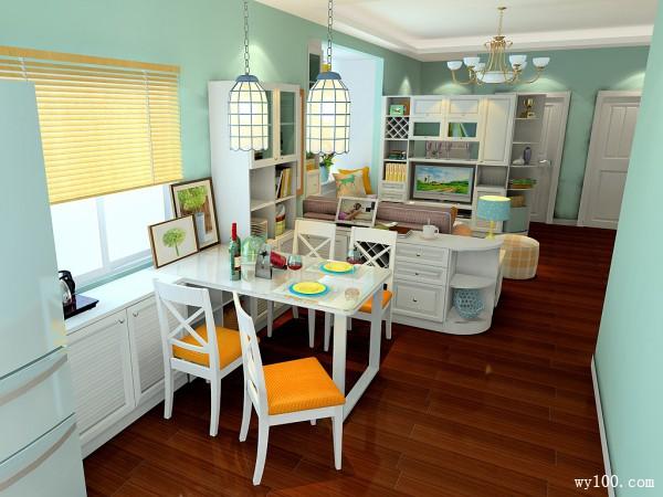 吊顶客餐厅装修效果图 26�O清新色调搭配_维意定制家具商城