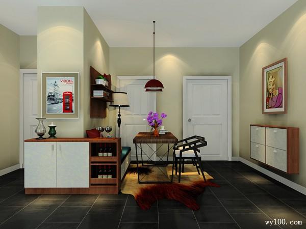 客餐厅效果图 25�O利用立式钢琴作为天然隔断_维意定制家具商城