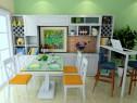 沙发隔断客餐厅效果图 71�O搭配象牙白家具_维意定制家具商城