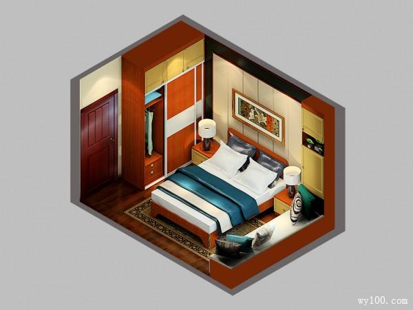 红木卧室家具效果图 10�O增加储物功能_维意定制家具商城