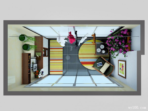 阳台装修效果图 7�O合理利用空间_维意定制家具商城