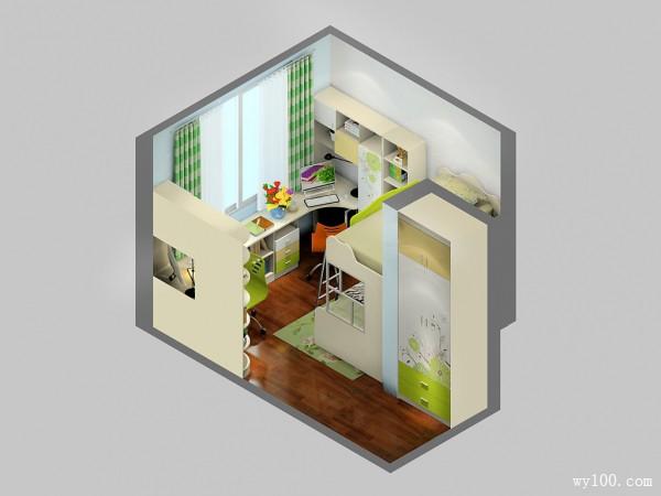 儿童房间装修效果图 12�O整体摆放整齐大方_维意定制家具商城