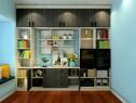 书房装修效果图 10�O蓝白色调的结合_维意定制家具商城