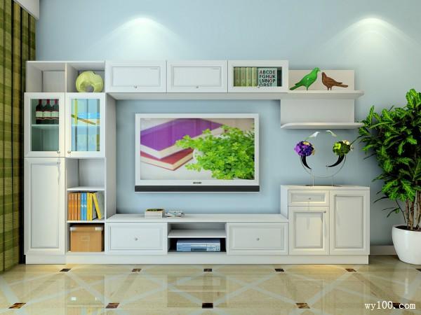 飘窗客餐厅效果图 30�O背景墙设计时尚、大气_维意定制家具商城