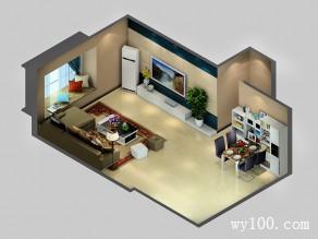 美式田园客餐厅设计效果图_维意定制家具商城