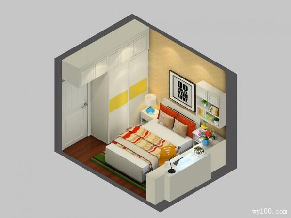 美式田园卧室风格设计效果图_维意定制家具商城