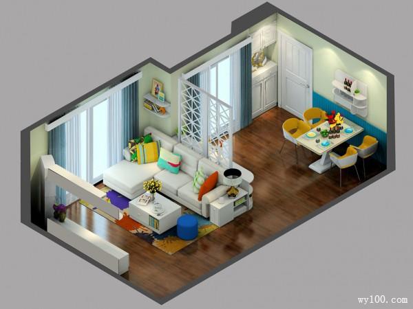 简约客餐厅效果图 29�O让小角落起大作用_维意定制家具商城